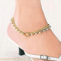 Wedding gold anklet