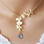 Wedding gold necklaces for brides